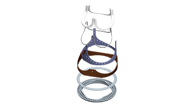 Designed specifically for the mitral valve position...