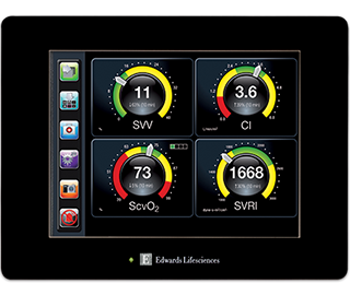 Cockpit screen on EV1000 Clinical Platform