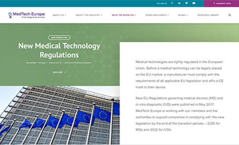 Website von MedTech Europe