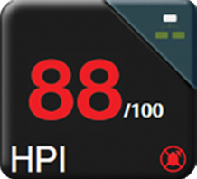 The HPI parameter displays as a value ranging from 0 to 100.