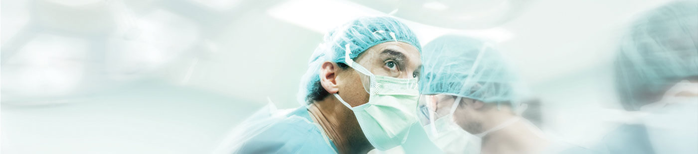 Image of surgeon during operation