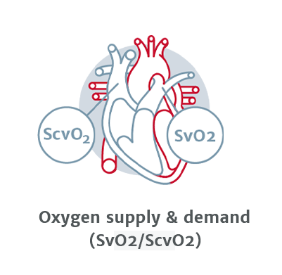 Oxygen supply and demand (SvO2/ScvO2)