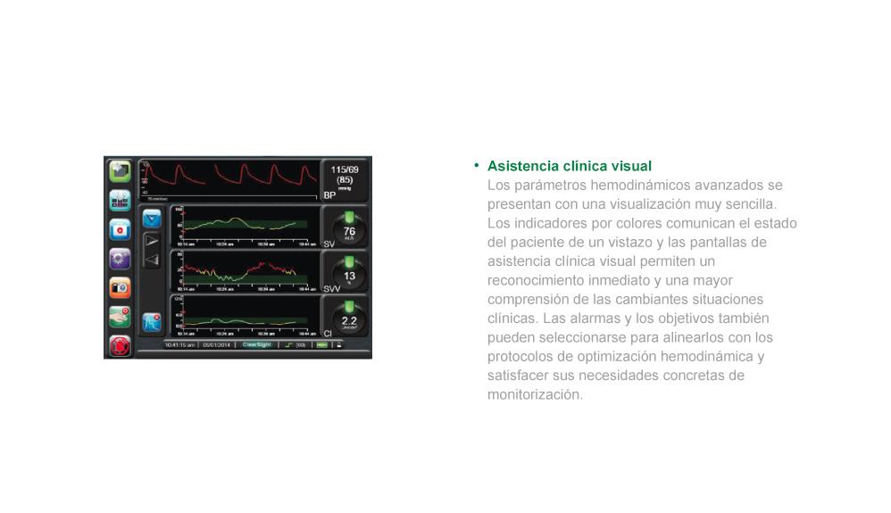 Asistencia clínica visual de EV1000