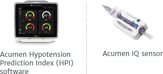 Acumen Hypotension Prediction Index (HPI) software, Acumen IQ sensor