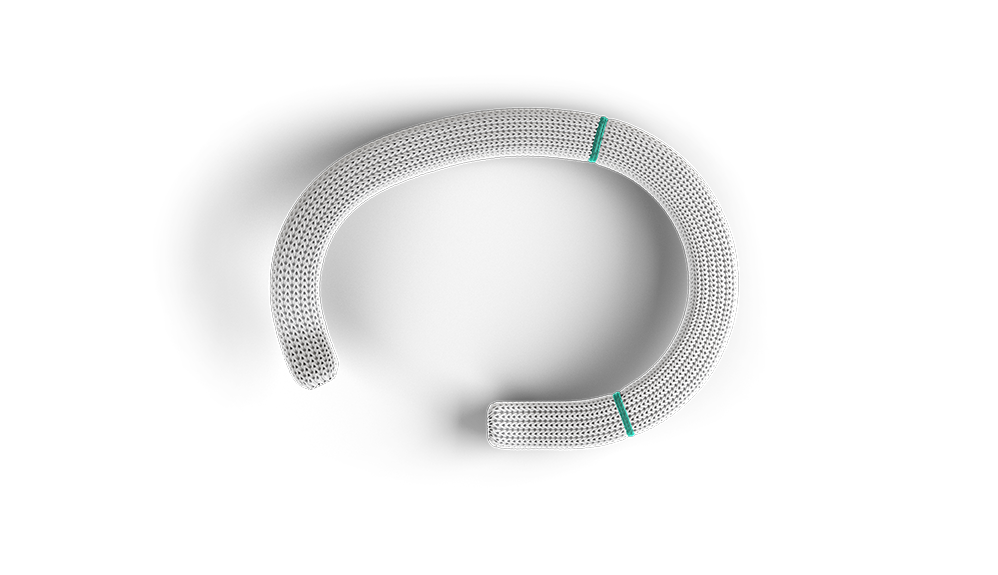 Apertura del segmento settale dell'anello per anuloplastica Physio Tricuspid